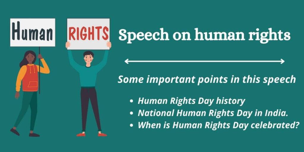 Speech on Human Rights