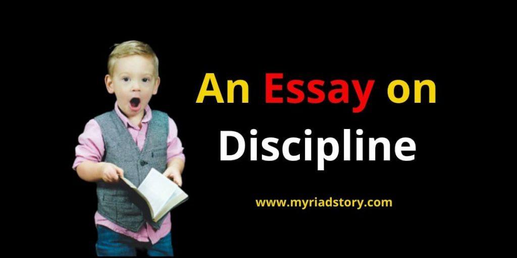 An Essay on Discipline