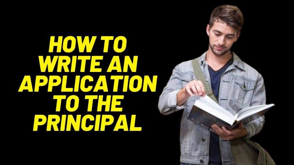 application to the principal